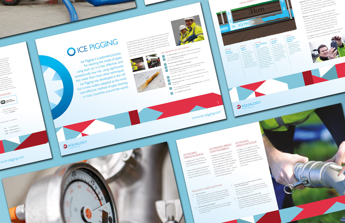 Corporate brochure for water services company