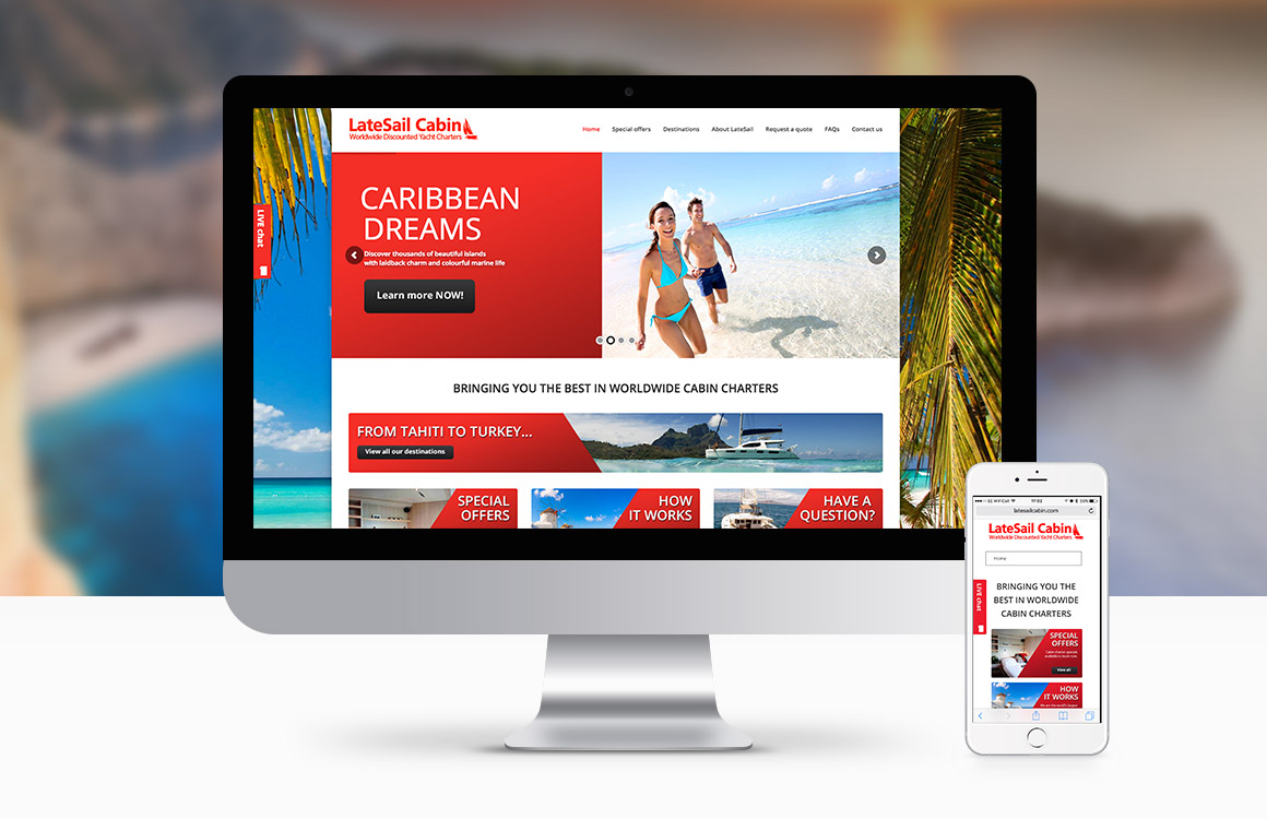 WordPress website for yacht cabin holiday company