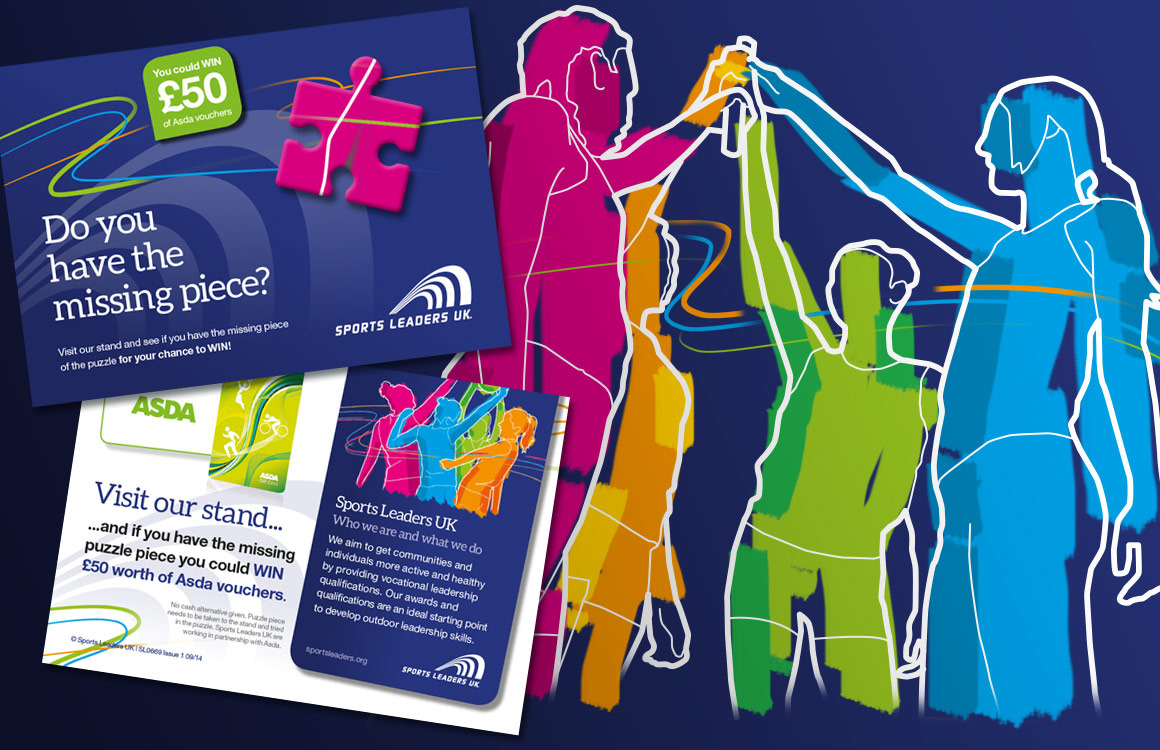 Postcard invitations for youth sports charity exhibition event