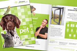 Product catalogue for pet screens